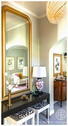 : ONE ROOM CHALLENGE: ! espejo de i pintado dorado