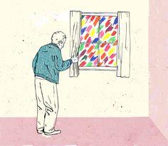 - Aveces solo son colores, aveces solo es pintura otras veces son sensaciones, momentos, bueno ... eso lo iras comprendiendo con el tiempo - me dijo
