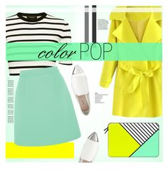 """""""Color Pop"""" by cowseatchard ❤ liked on Polyvore featuring Casetify, Theory, McQ by Alexander McQueen and Miu Miu"""