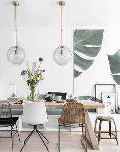 Beautiful Scandinavian Dining Room Design Ideas - This short article includes a number of quick suggestions to look for when scouting for the seating for your dining area in your house. Dining Room Design, Dining Area, Small Dining, Dining Rooms, Dining Room Lamps, Dining Room Bench, Dining Decor, Dining Table, Room Inspiration
