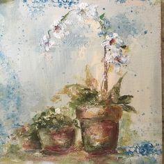 Mini floral study in oil.