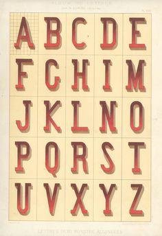 Alphabet, Album de lettres par N. Glaise, peintre.