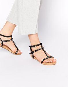 Miss KG Roz Chain Detail Flat Sandals