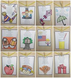 Cute monthly poem and craft! Perfect to use at the beginning of each month. Preschool Poems, Kindergarten Math Activities, Fun Math Games, Math Resources, Classroom Resources, Classroom Ideas, Teaching Main Idea, Creative Teaching, Teaching Ideas