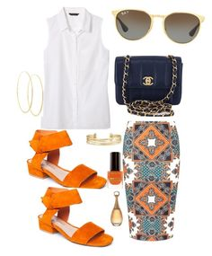"""""""Untitled #412"""" by stylemirror ❤ liked on Polyvore featuring Dorothy Perkins, Banana Republic, Matisse, Chanel, Stella & Dot, Max Factor, Lana and Ray-Ban"""
