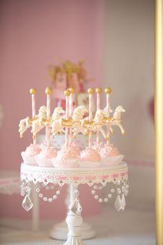Cake Pops from a Pink Carousel Birthday Party via Kara's Party Ideas! http://KarasPartyIdeas.com (42)