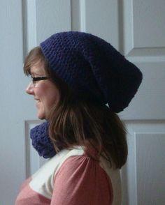 Crochet beanie and snood Handmade by Rebekah