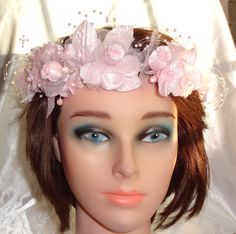Bridal Flower Girl Crown Wedding Headpiece Halo by lovelygifts, $35.00