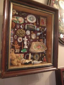 Vintage things in a frame