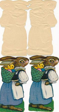 ORIGINAL Oblaten DIE CUT SCRAPS Ostern Easter 4 x Osterhase rabbit Die Cutting, Rabbit, Scrap, Easter, The Originals, Ebay, Easter Bunny, Rabbits, Tat