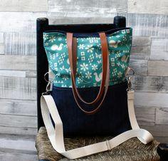 Bolso+Palomas+verde+-+Summer+Edition+de+LoLahn+Handmade+-+Bolsos,+mochilas,+cuellos,+sombreros+y+gorras.+por+DaWanda.com