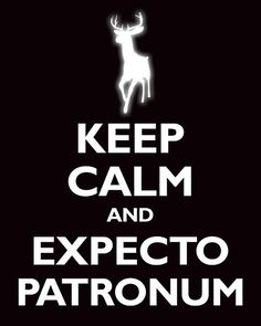 Keep calm, think of one happy moment in your life and just then say: EXPECTO PATRONUM