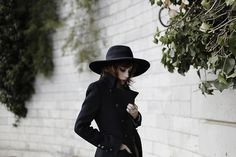 Love this coat and hat for winter.   PS1C9622 by ebellouise, via Flickr