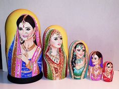 Country beauties -India Matryoshka www.matrioskas.es