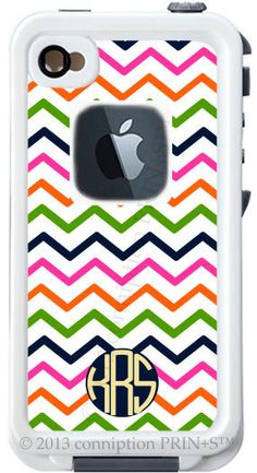 Monogrammed Lifeproof Case iPhone 4/4s or 5 Modern Prep II Print by conniption Prints. $126.00, via Etsy.