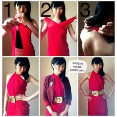 Knot Just A Scarf Tutorial Criss Cross Halter Dress. So simple and easy. You don't have to use a scarf (shhh). A sarong, or even a sufficiently large piece of fabric works! No sewing is involved. Ways To Wear A Scarf, How To Wear Scarves, Scarf Dress, Diy Dress, Diy Sans Couture, Diy Fashion, Fashion Looks, Fashion Tips, Scarf Tying Tutorial