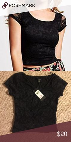 Guess Lace Crop Top XS Guess Lace Crop top. New with tags. Never worn. Guess Tops Crop Tops