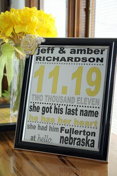 Super Personal and Inexpensive baby or wedding gift