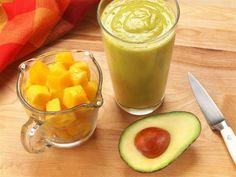 Dairy-Free Mango Avocado Smoothie Recipe! at TheFrugalGirls.com #smoothie #recipes