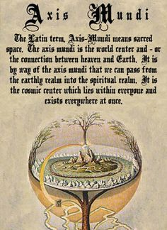 """Book of Shadows:  """"Axis Mundi."""" Wiccan, Witchcraft, Latin Spells, Tarot, Charmed Book Of Shadows, Charmed Tv, Halloween Books, Ancient Aliens, Heaven On Earth"""