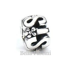 12810d37126d Sister Family Gift Bead Charm - Sterling Silver - Fits Pandora and Compatible  European Brand Bracelets and Bangles - BELLA FASCINI® M-167N