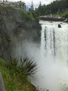 Washington: Snoqualmie Falls, east of Seattle about 35 minutes, depending on traffic. (I-90)