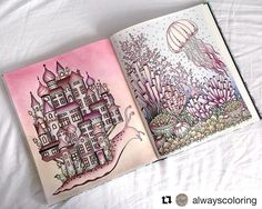 #Repost @alwayscoloring  I have colored two pages next to each other! It's the first time for me and I just love how it looks  I had to share it with all of you lovely people!   Dagdrömmar (Daydreams)  Hanna Karlzon #dagdrömmar #daydreams #hannakarlzon #coloringbook #adultcoloring #adultcoloringbook #arttherapy #coloring #colouring #wip #bayan_boyan #divasdasartes #fabercastell #polychromos #marcometallic #softpastel