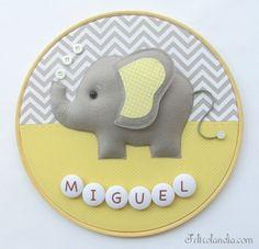 Porta Maternidade Bastidor Elefante