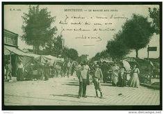 * Puces de Montreuil carte postale ancienne