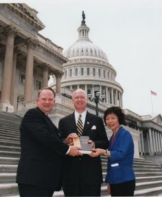 Virginia State Director, David Andersen and wife Eunjoo present Congressman Robert Aderholt-AL with a MacArthur Study Bible