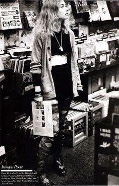 vinyl record shop.