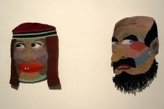 Gertrud and Max, tapestry weavings by Liv Pederson, 2012