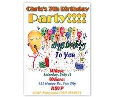 Custom Singing Balloons Happy Birthday by CowberryMoonCards