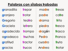 Dictado de palabras | silabitas | Pinterest | Niños de preescolar ...