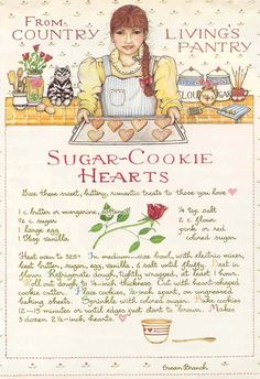 Sugar Cookie Hearts  Susan Branch