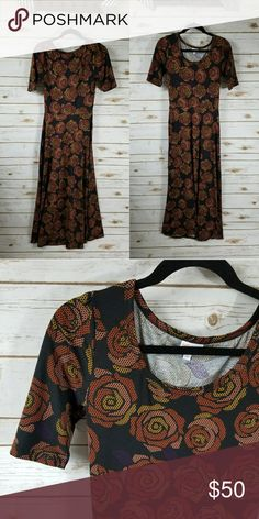 "LulaRoe Ana dress ""rose print"" LulaRoe Ana dress [digital rose print] Size: Small Excellent used condition LuLaRoe Dresses Maxi"
