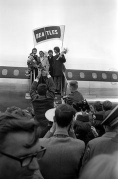 June 4, 1964 The Beatles arrive in Copenhagen, Denmark.