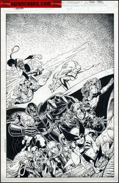 Comic Art For Sale from Kwan Chang, Adams, Art Excalibur Special #2 Cover by Comic Artist(s) Arthur Adams Terry Austin