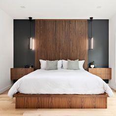 Hotel Room Design, Luxury Bedroom Design, Bedroom Bed Design, Home Interior Design, Master Bedroom Interior, Home Decor Bedroom, Modern Master Bedroom, Bedroom Wall, Bedroom Ideas