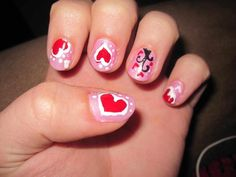 Nice 41 Adorable DIY Valentines Day Nails Art Ideas. More at https://trendwear4you.com/2018/01/24/41-adorable-diy-valentines-day-nails-art-ideas/
