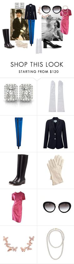 """Kennedy Women: Jacqueline"" by michelle858 ❤ liked on Polyvore featuring Allurez, Manokhi, Nina Ricci, Pure Collection, Rupert Sanderson, Mark & Graham, Prada, Anyallerie and Fabrizio Viti"