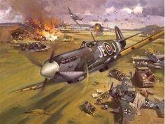Supermarine Spitfire IX by Michael Turner. Ww2 Aircraft, Fighter Aircraft, Military Aircraft, Military Drawings, Supermarine Spitfire, Ww2 Spitfire, War Thunder, Aircraft Painting, Airplane Art