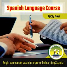 Begin your career as an interpreter by learning Spanish Spanish Language Courses, Interview Training, Learning Spanish, How To Introduce Yourself, Vocabulary, Career, How To Apply, Words, Spanish Courses