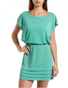 Teal Dress super simple and cute with a few accessories!