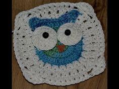 ▶ Kwadrat 1 i 2- kocyk w sowy/ Tutorial blanket owl - YouTube