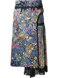 Shop Sacai floral print pleated skirt in Capitol from the world's best independent boutiques at farfetch.com. Shop 300 boutiques at one address.