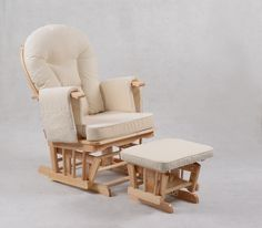 foxhunter nursing glider maternity rocking chair with footstool