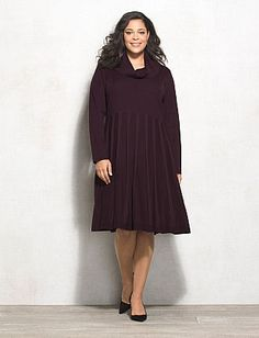 Plus Size Cowl Neck Sweater Dress (Only $33.75)  The ultimate fall sweater dress you need to add to your collection. You can dress it up (just add a long necklace and pumps), or make it causal with a comfy pair of flats.
