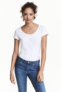 Džersejové tričko - biela - ŽENY | H&M SK 1