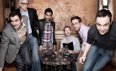 This is a wonderful picture :) Ty Burrell,Ted Danson, Aziz Ansari, Neil Patrick Harris, Ed Helms and Jim Parsons